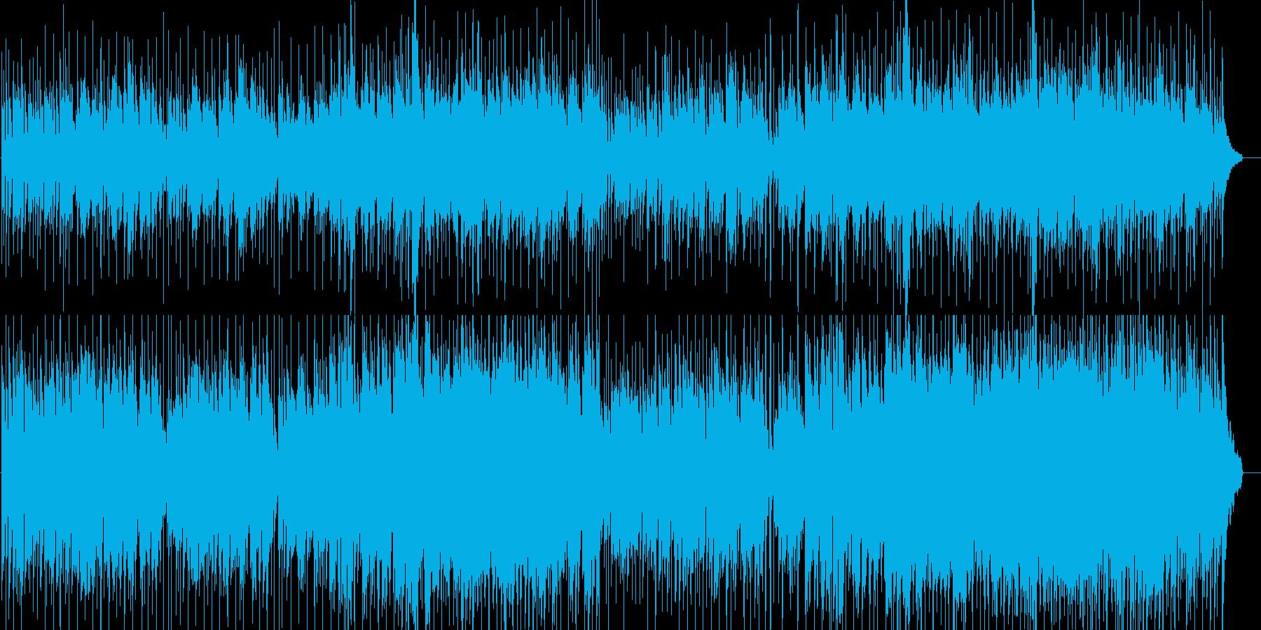 シンセリードとピアノの落ち着いたラウンジの再生済みの波形