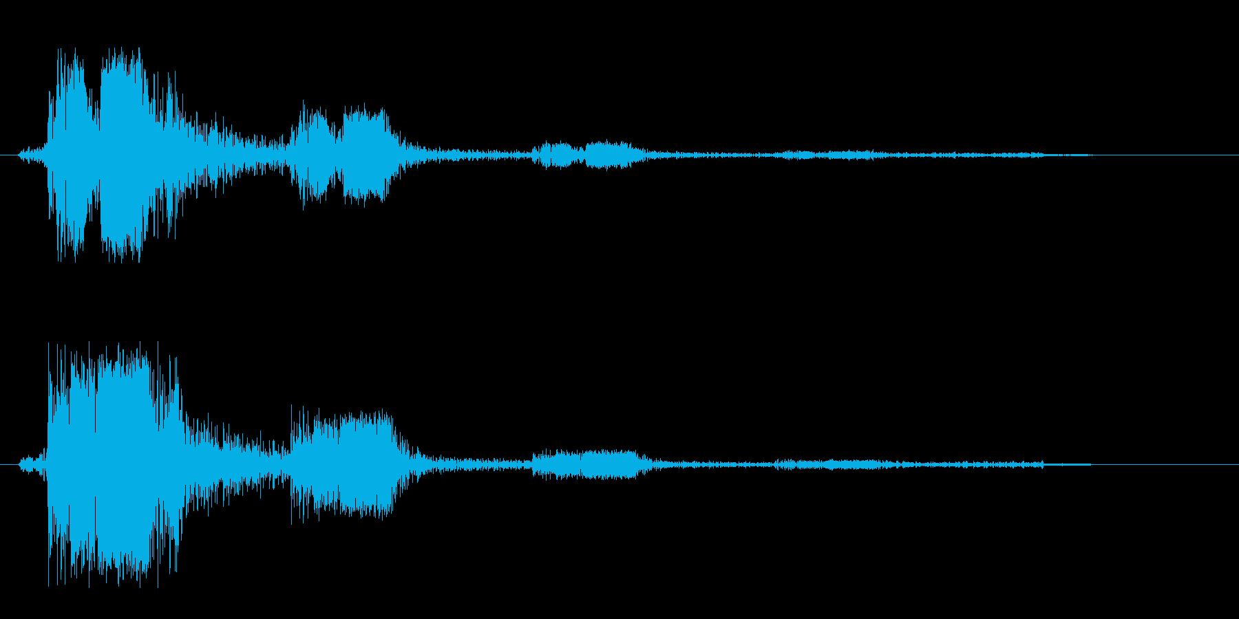 ビュンッ→消える(スピード感ある高音)の再生済みの波形