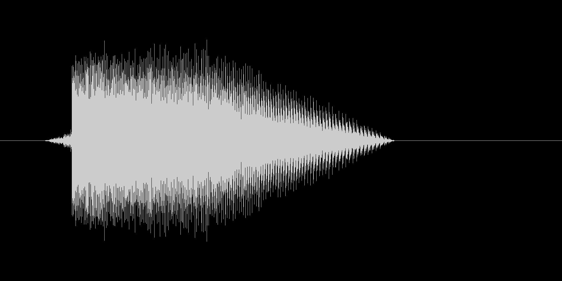 ゲーム(ファミコン風)レーザー音_049の未再生の波形