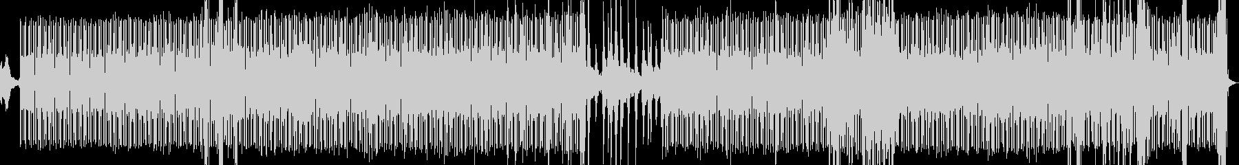 ビート感のあるアンビエント電子音楽の未再生の波形