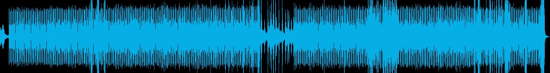 ビート感のあるアンビエント電子音楽の再生済みの波形