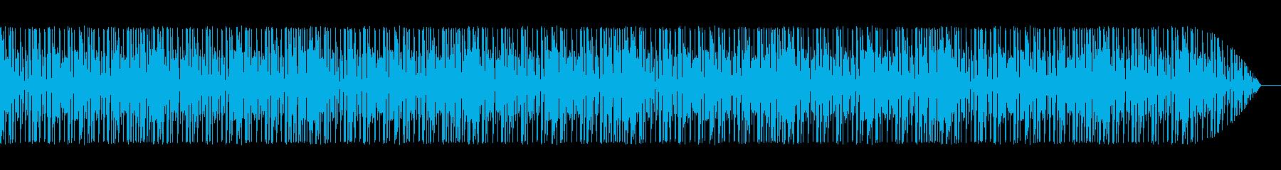 ミニゲーム風、緊迫感のあるショートループの再生済みの波形
