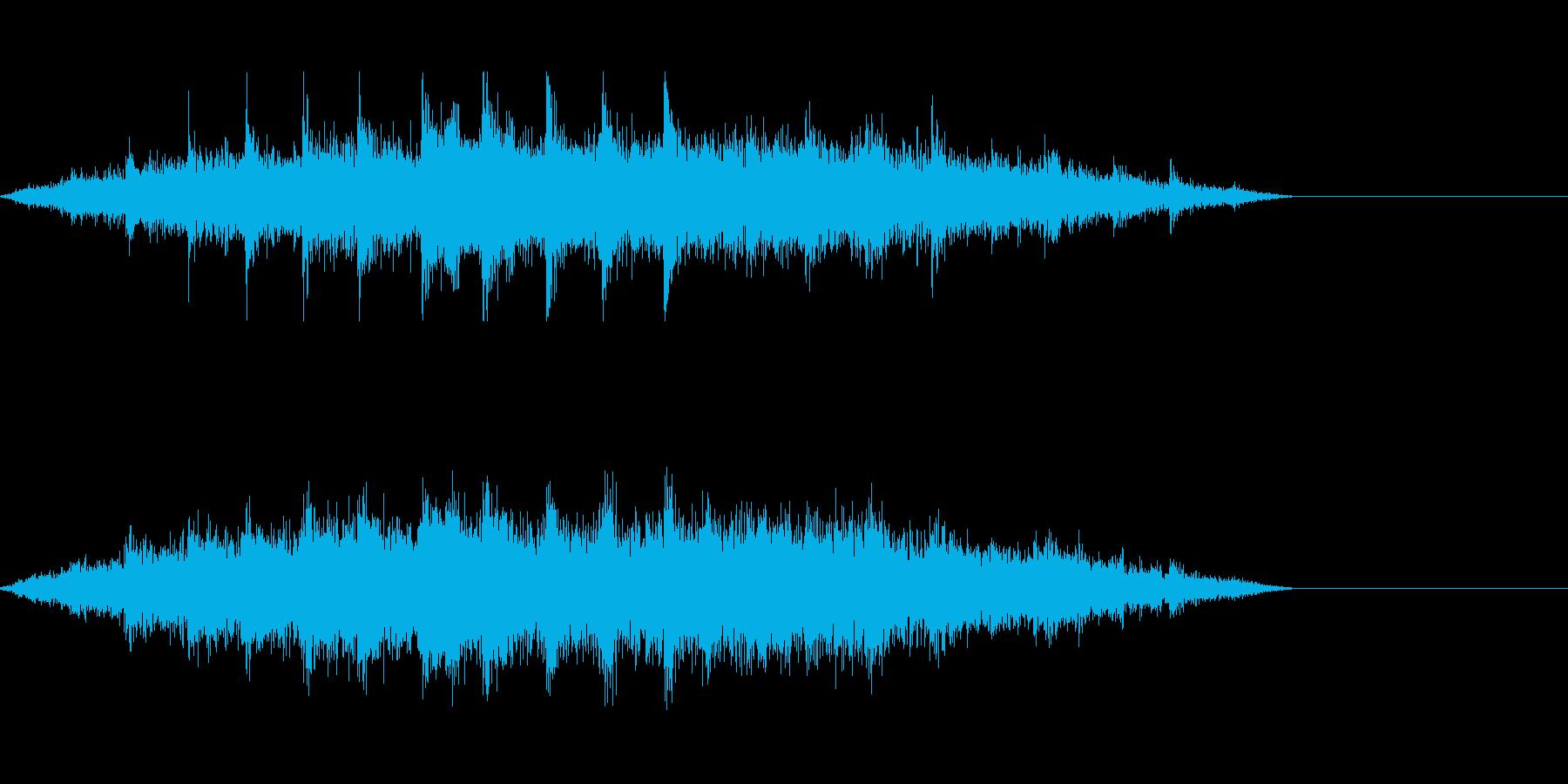 工事現場の環境音にの再生済みの波形