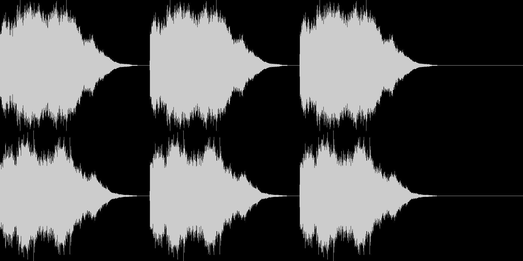 ベル/コール/着信音/アラーム音/ロングの未再生の波形
