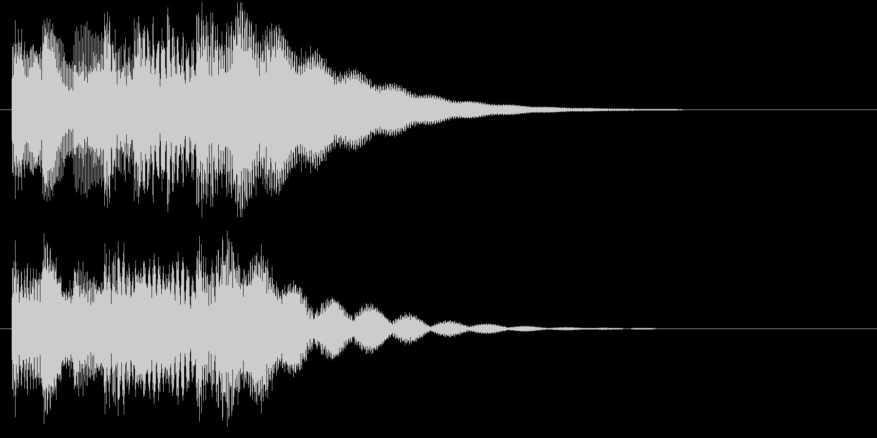 チャイム音の場転用ジングルの未再生の波形
