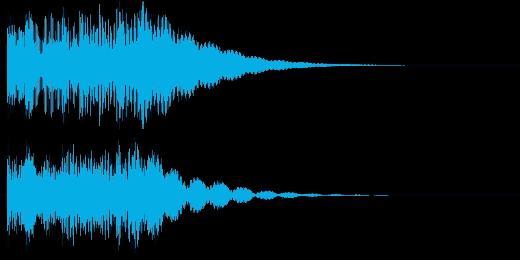 チャイム音の場転用ジングルの再生済みの波形