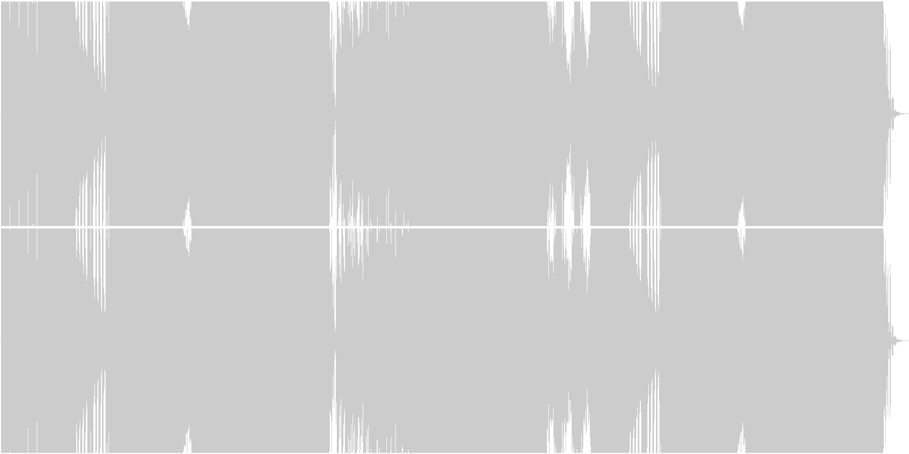 涼しげなオルガンのEDMの未再生の波形