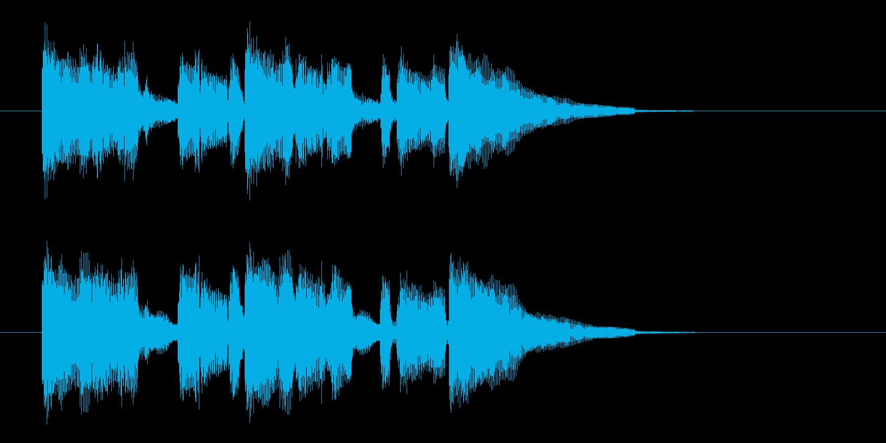ブルージーでゆったりな雰囲気のジングル曲の再生済みの波形