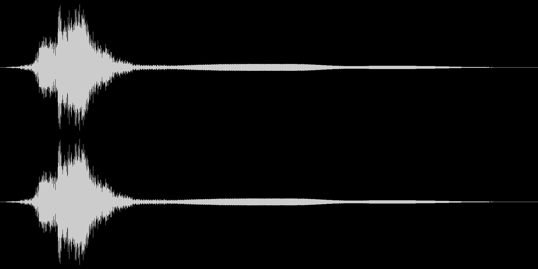 シャキーン!リアルな剣や刀の抜刀音28cの未再生の波形