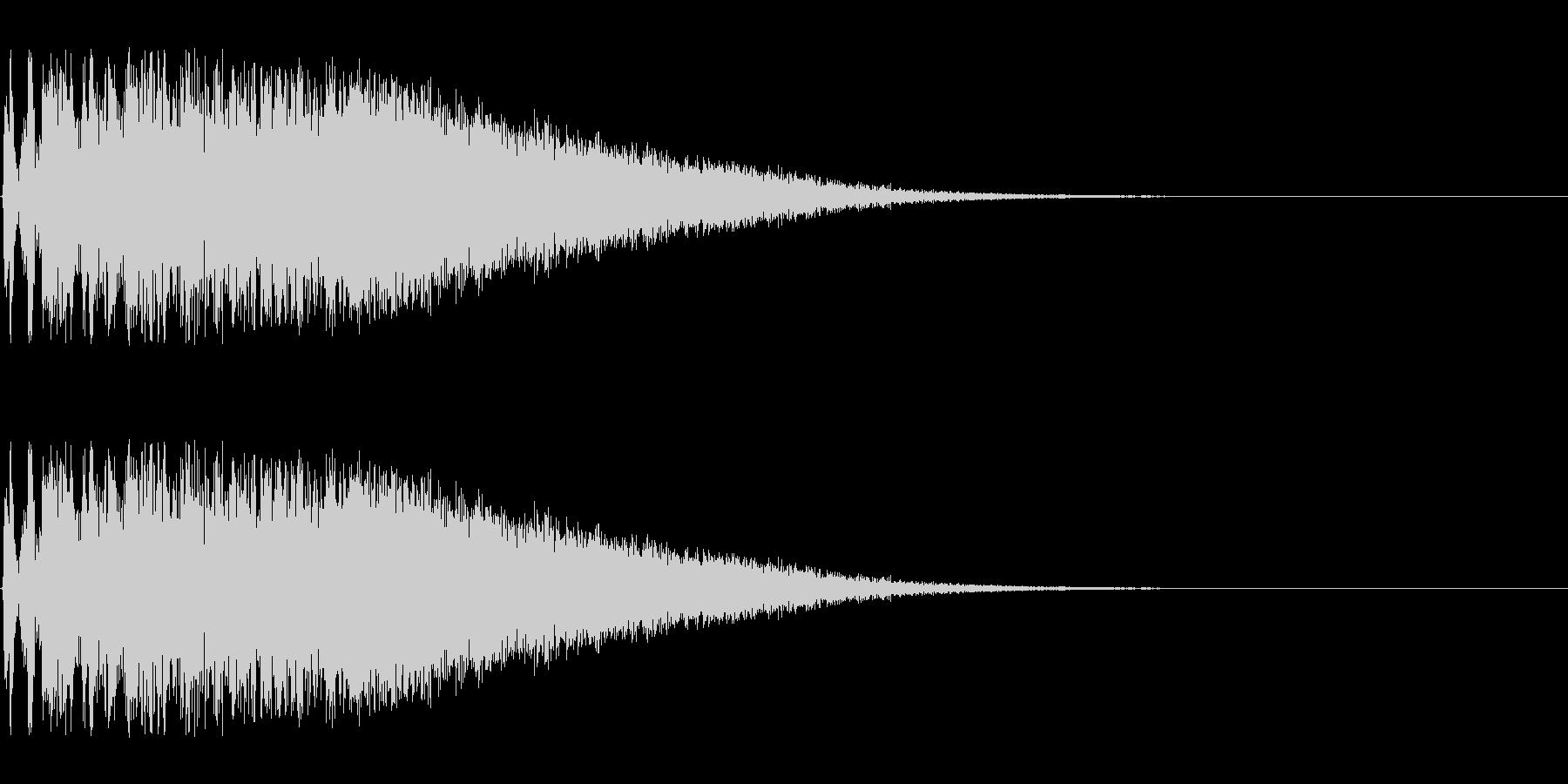 特撮にありそうな攻撃音の未再生の波形