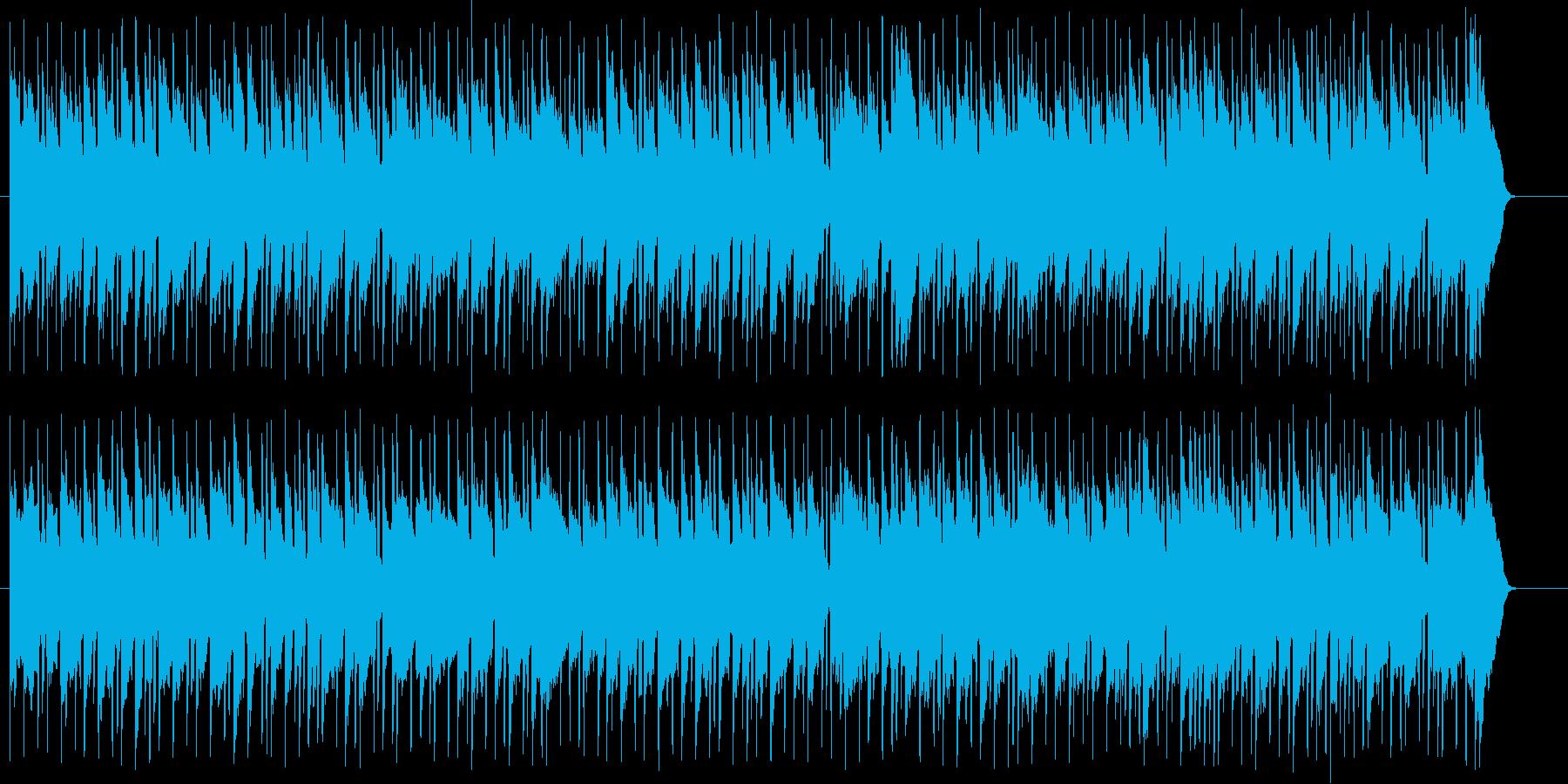 青空と透き通った夏の海をイメージの再生済みの波形