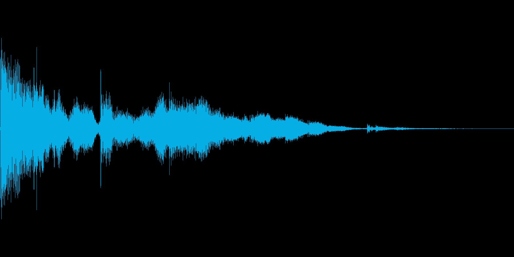 コイン_コインの上に落ちる_02の再生済みの波形