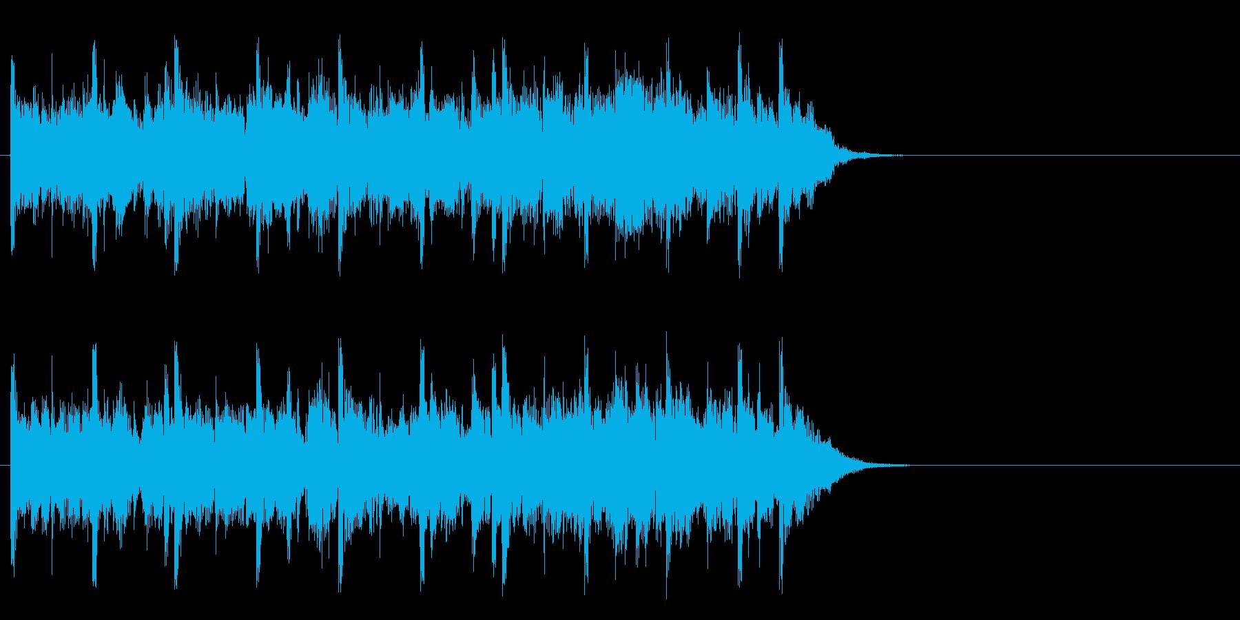 軽快なフュージョン(サビ)の再生済みの波形