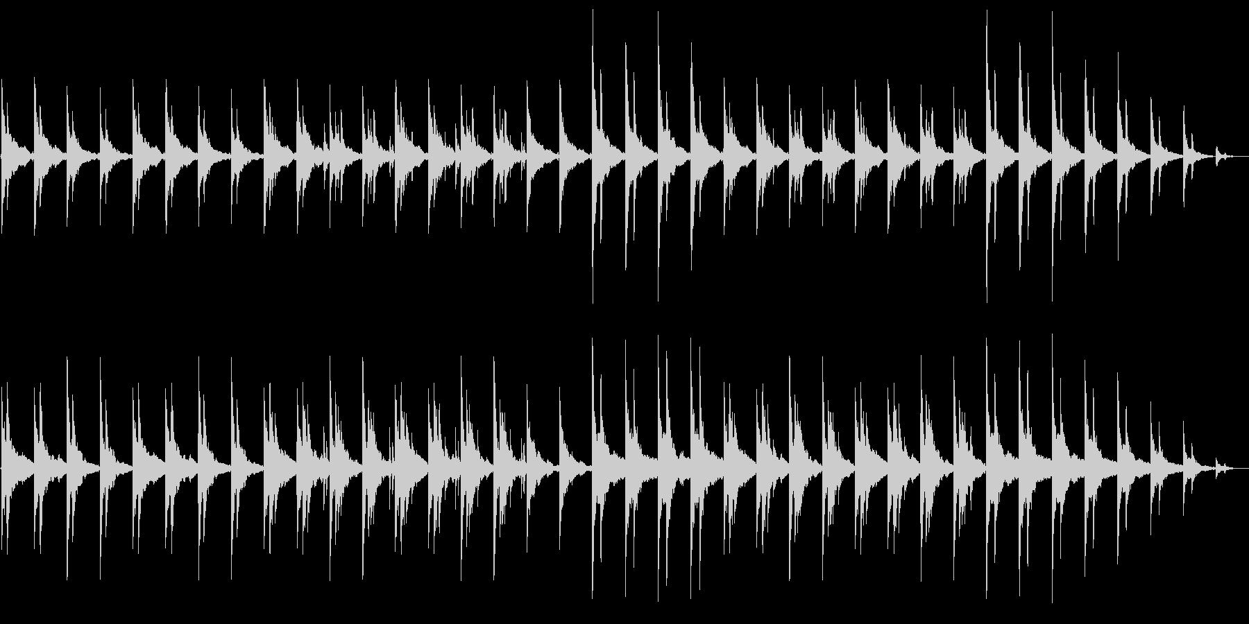 昔の写真 回想 思い出 ソロピアノと残響の未再生の波形