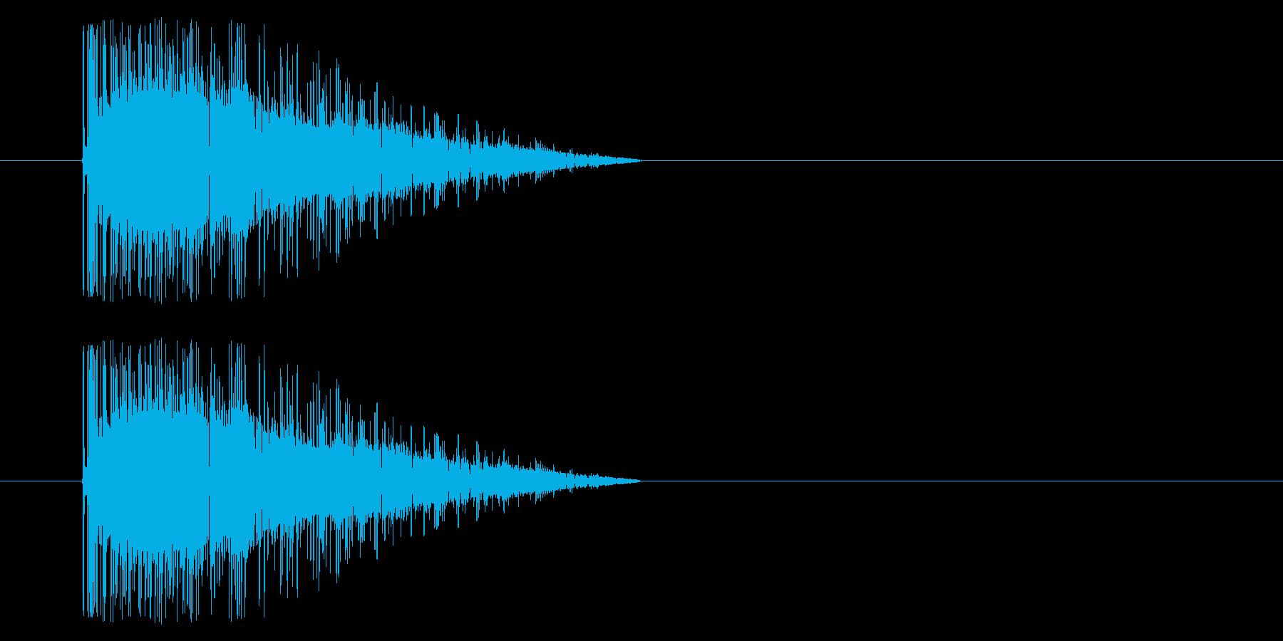 【アーケード 汎用01-18(ノイズ)】の再生済みの波形