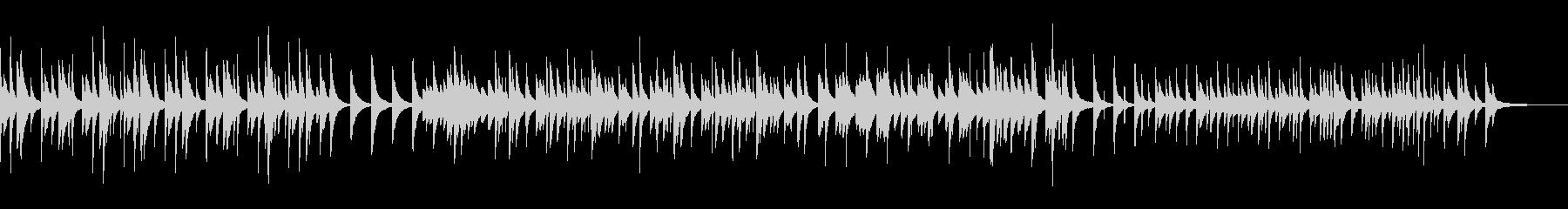 穏やかな寂しさのピアノBGMの未再生の波形