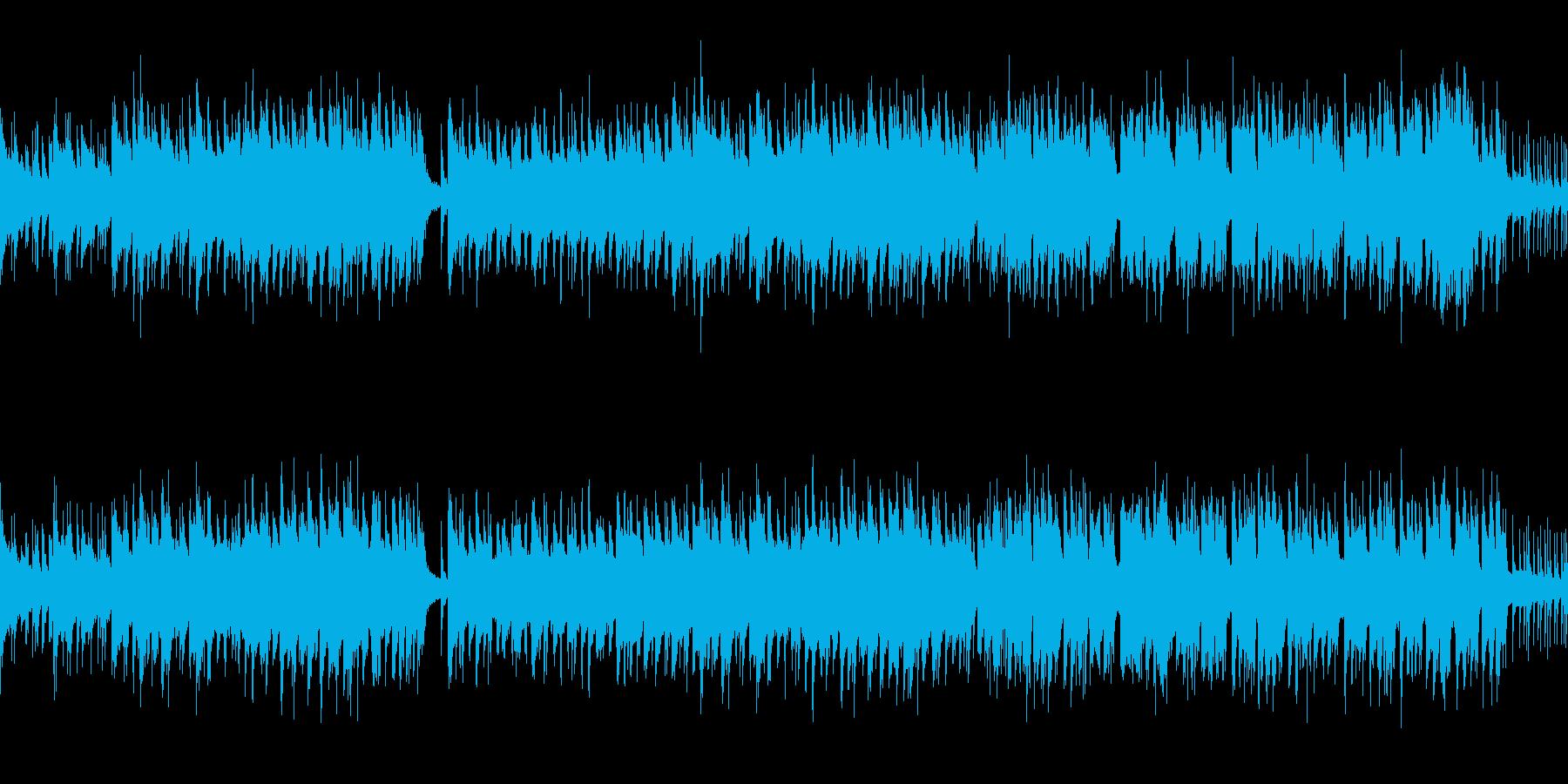ほのぼのした明るいジャズの再生済みの波形