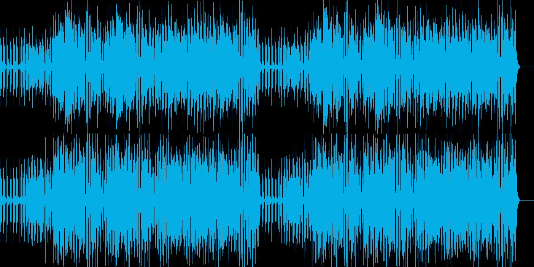 キコリ的な音とカフェ的なのんびりした音…の再生済みの波形