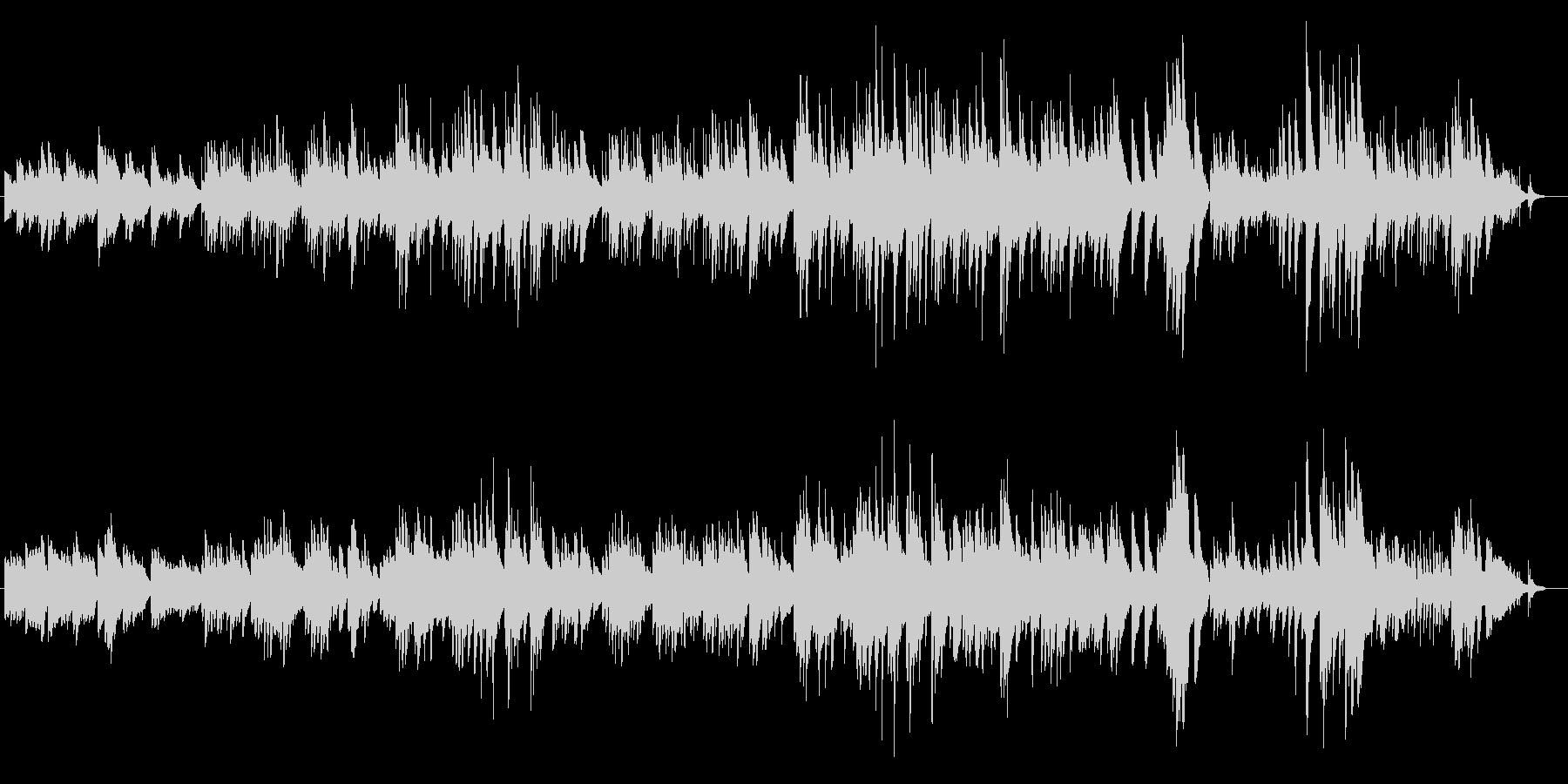 ピアノの物悲しい(マイナー)バラードの未再生の波形