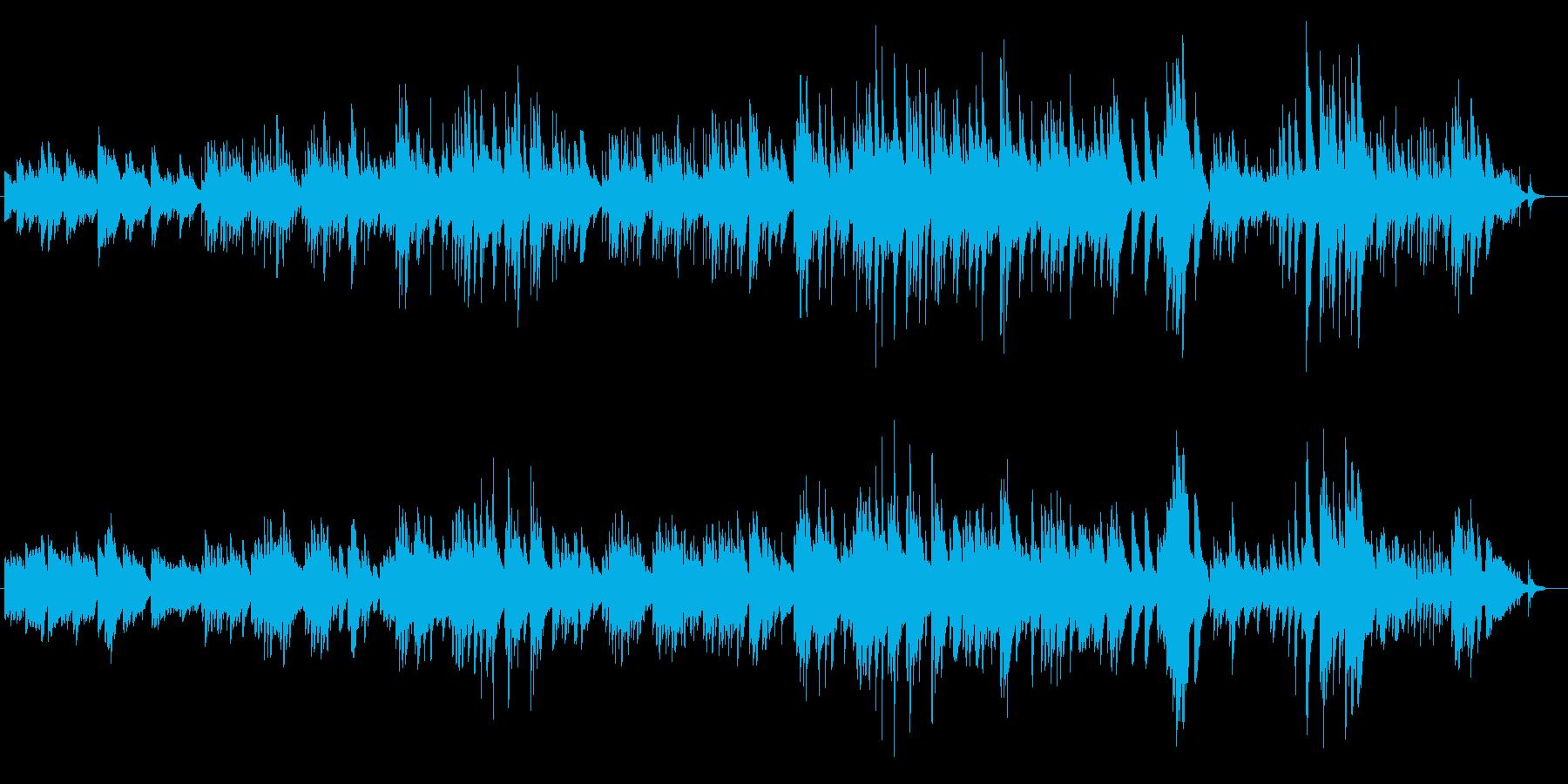 ピアノの物悲しい(マイナー)バラードの再生済みの波形