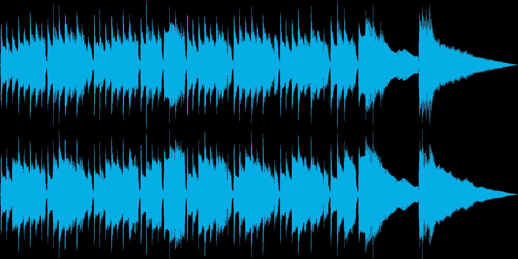 少し切ない雰囲気の温かいアコギジングルの再生済みの波形