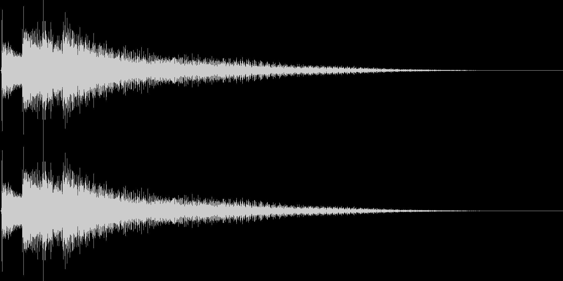 12弦ギターのジングルの未再生の波形