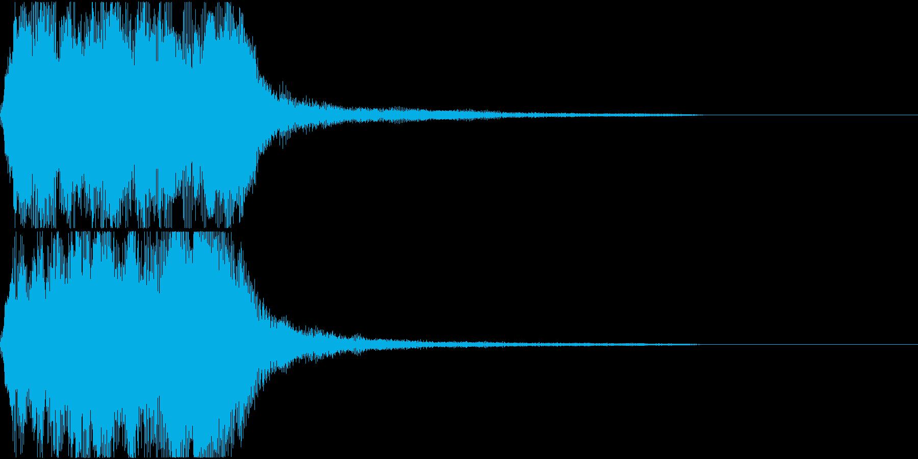 ラッパ ファンファーレ 定番 25 早いの再生済みの波形