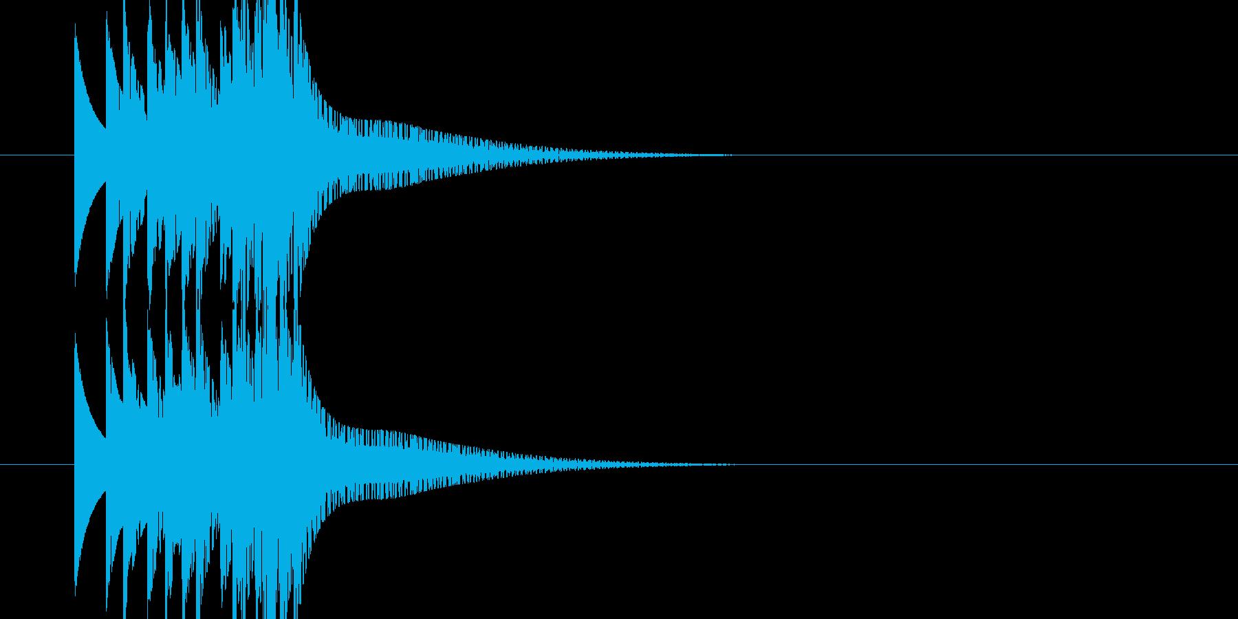 ゲーム ファミコンの上昇音の再生済みの波形