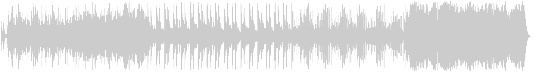 感動のエンディングを迎えるピアノバラードの未再生の波形