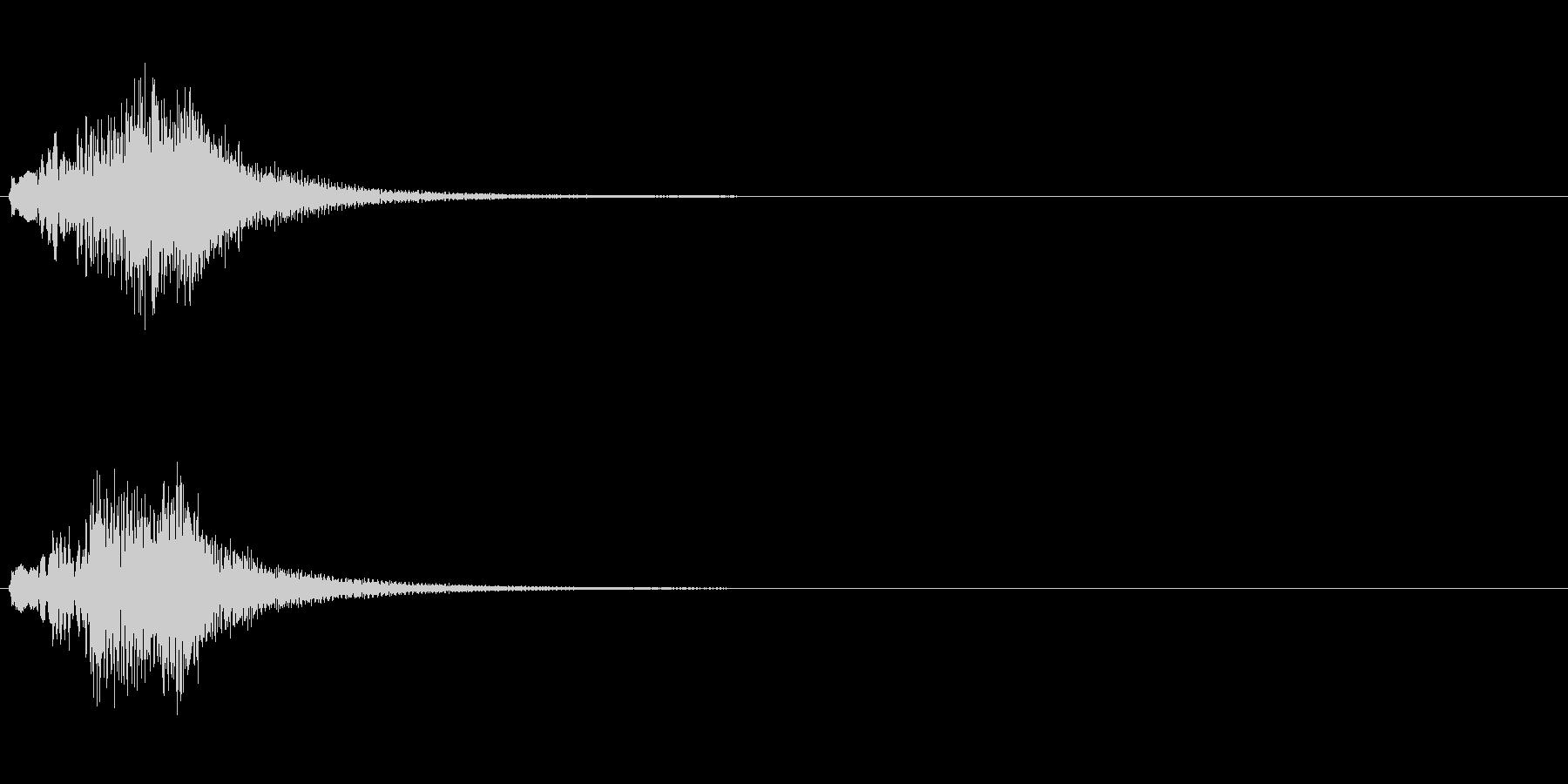 コードに合わせたハープのグリッサンドの未再生の波形