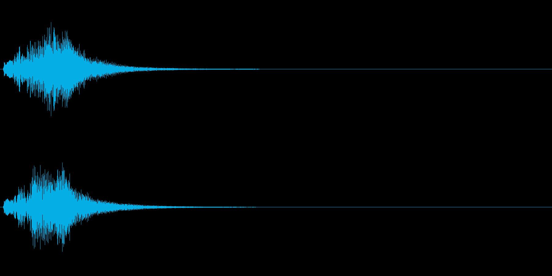 コードに合わせたハープのグリッサンドの再生済みの波形