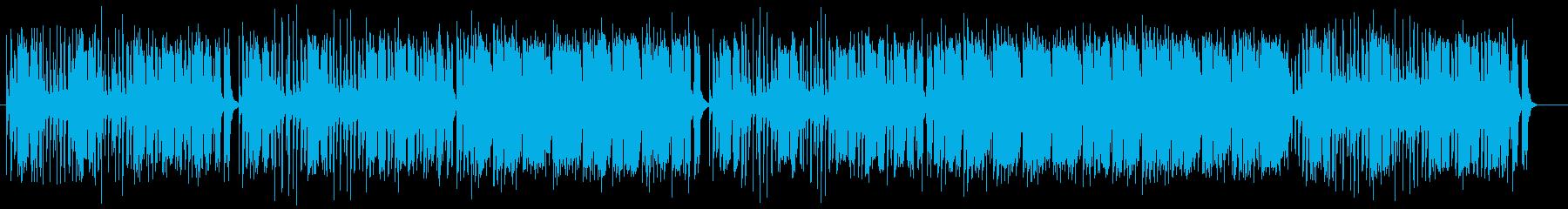 ノリのいいリズムが楽し気なポップスの再生済みの波形