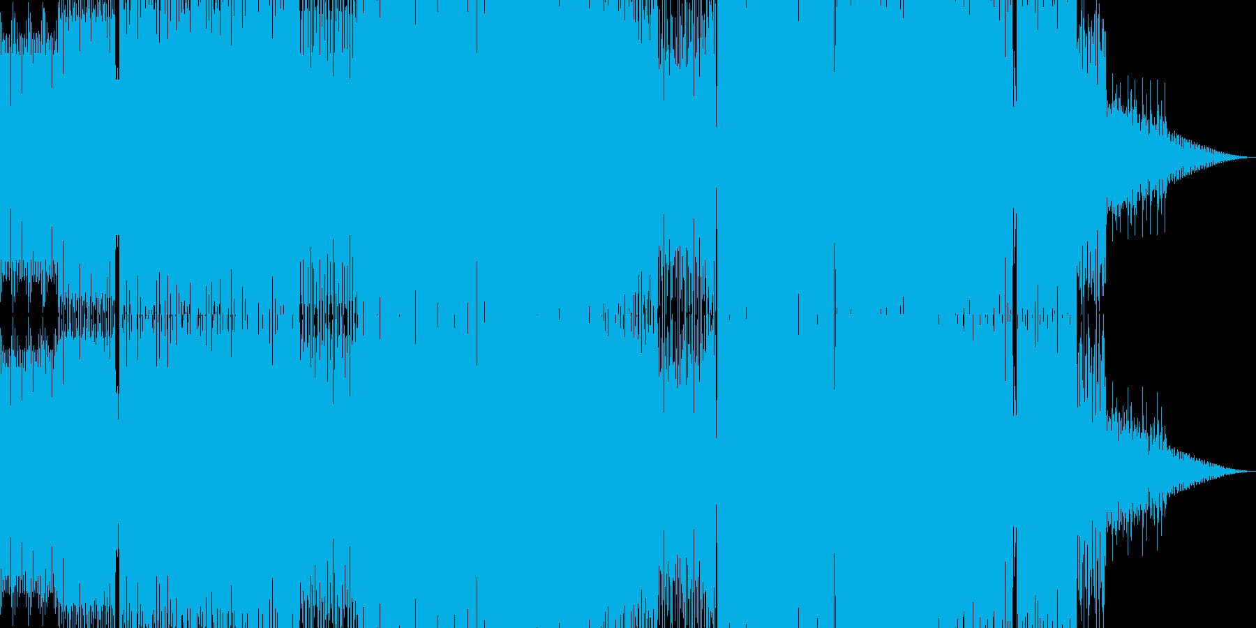 バレアリックなテックハウスBGMの再生済みの波形