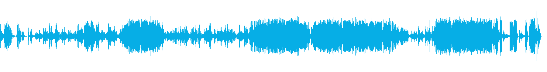 ショパン:バラード一番(ピアノソロ)の再生済みの波形