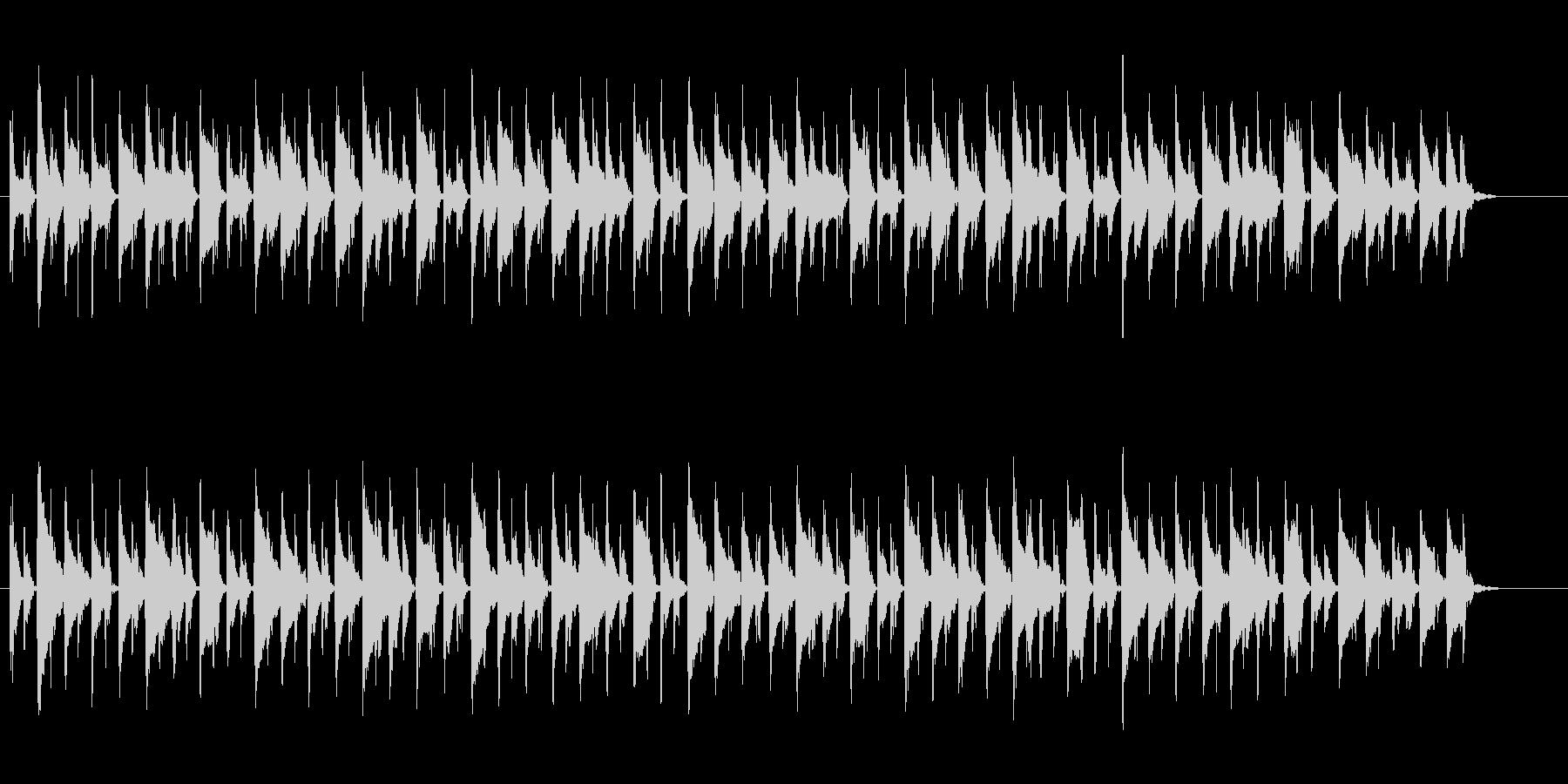 ゆったりとしたポップスの未再生の波形