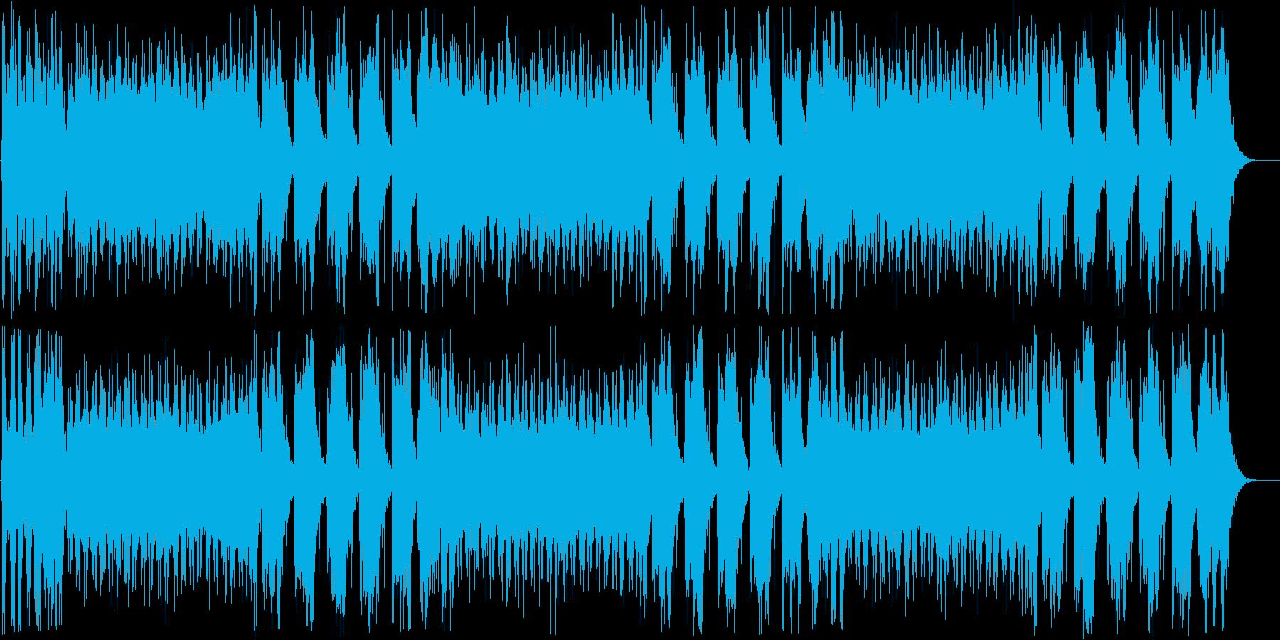 明るくコミカルなテクノの再生済みの波形