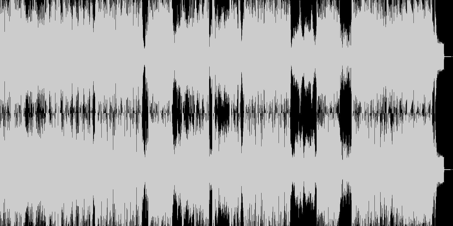 緊急、アシッドテイストなドラムンベースの未再生の波形