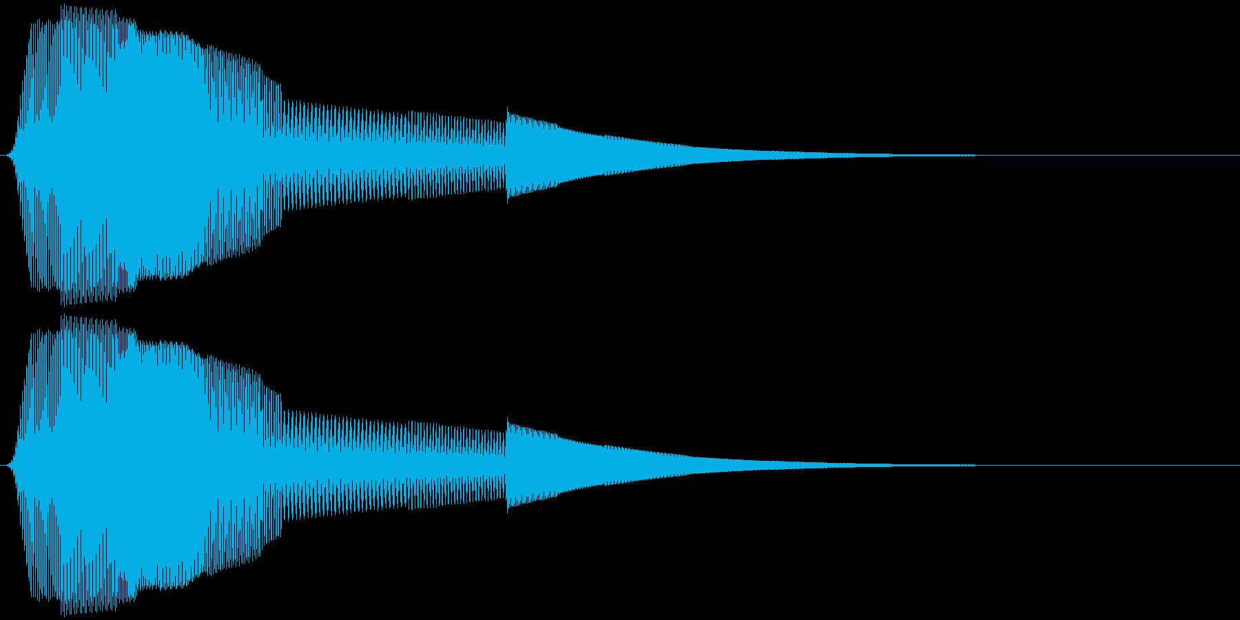 ボタン押下や決定音_ポピッ!の再生済みの波形