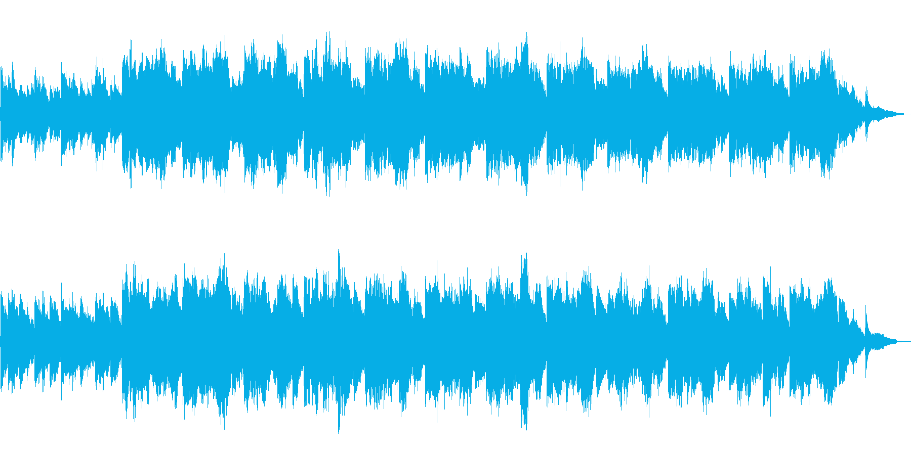 【60秒】朝焼けイメージのシンプルBGMの再生済みの波形