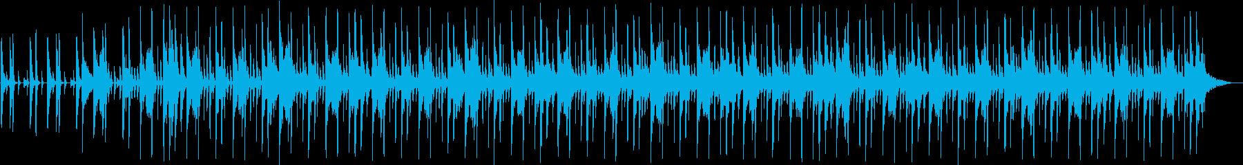 洋楽風のHip-Hopビートの再生済みの波形
