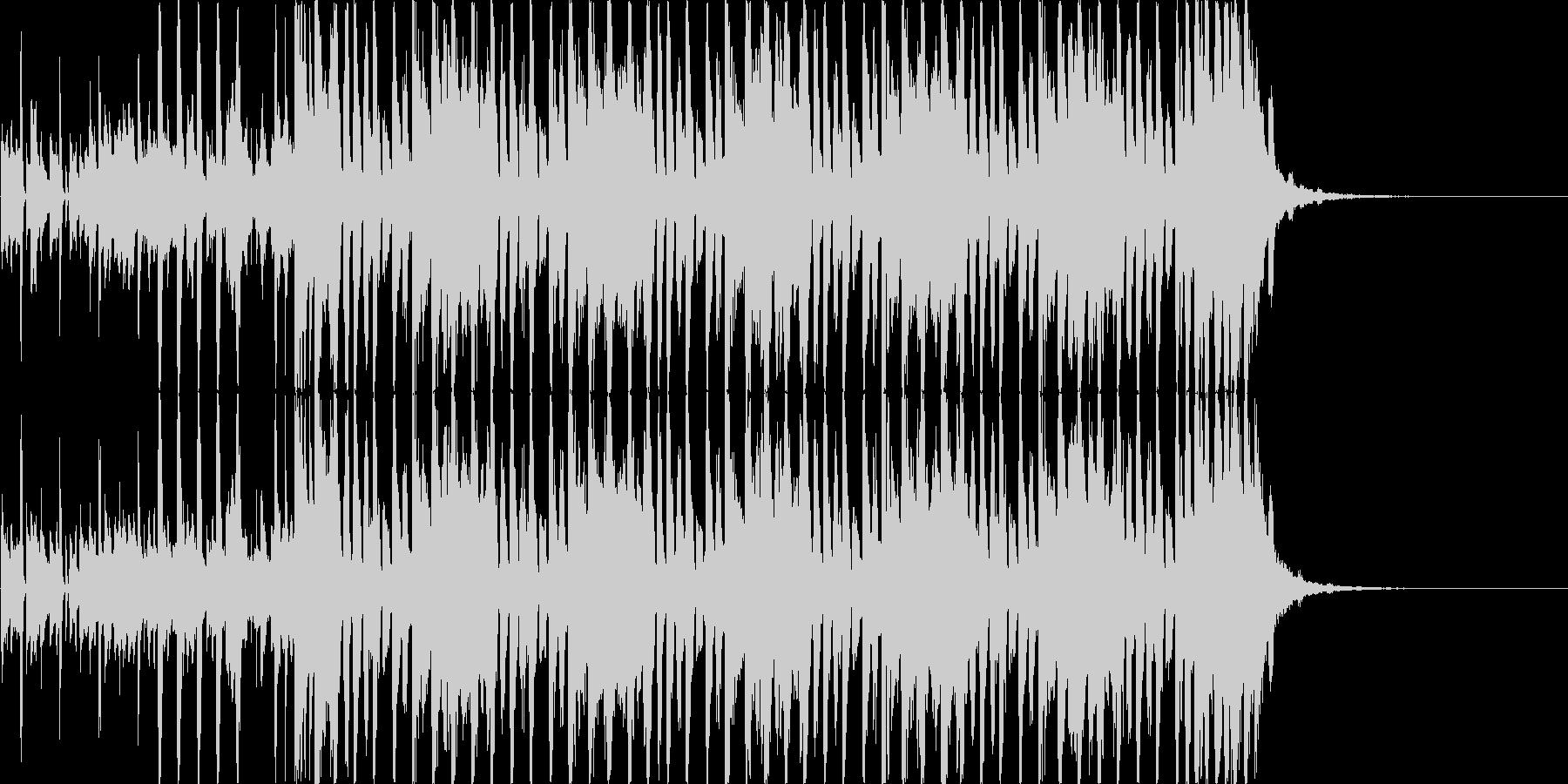 【30秒・CM向け】軽快なギターのハウスの未再生の波形