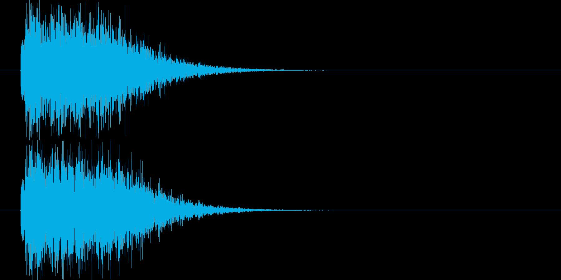 高速移動の再生済みの波形