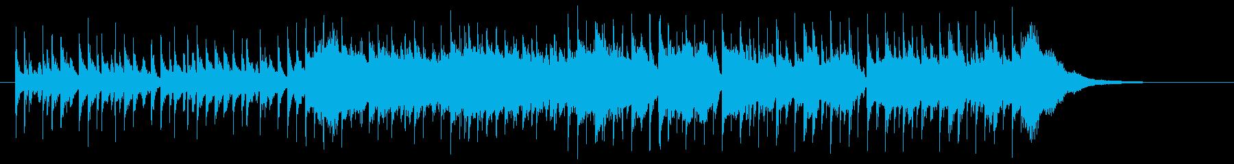 鈴の音が清潔感のあるポップスの再生済みの波形