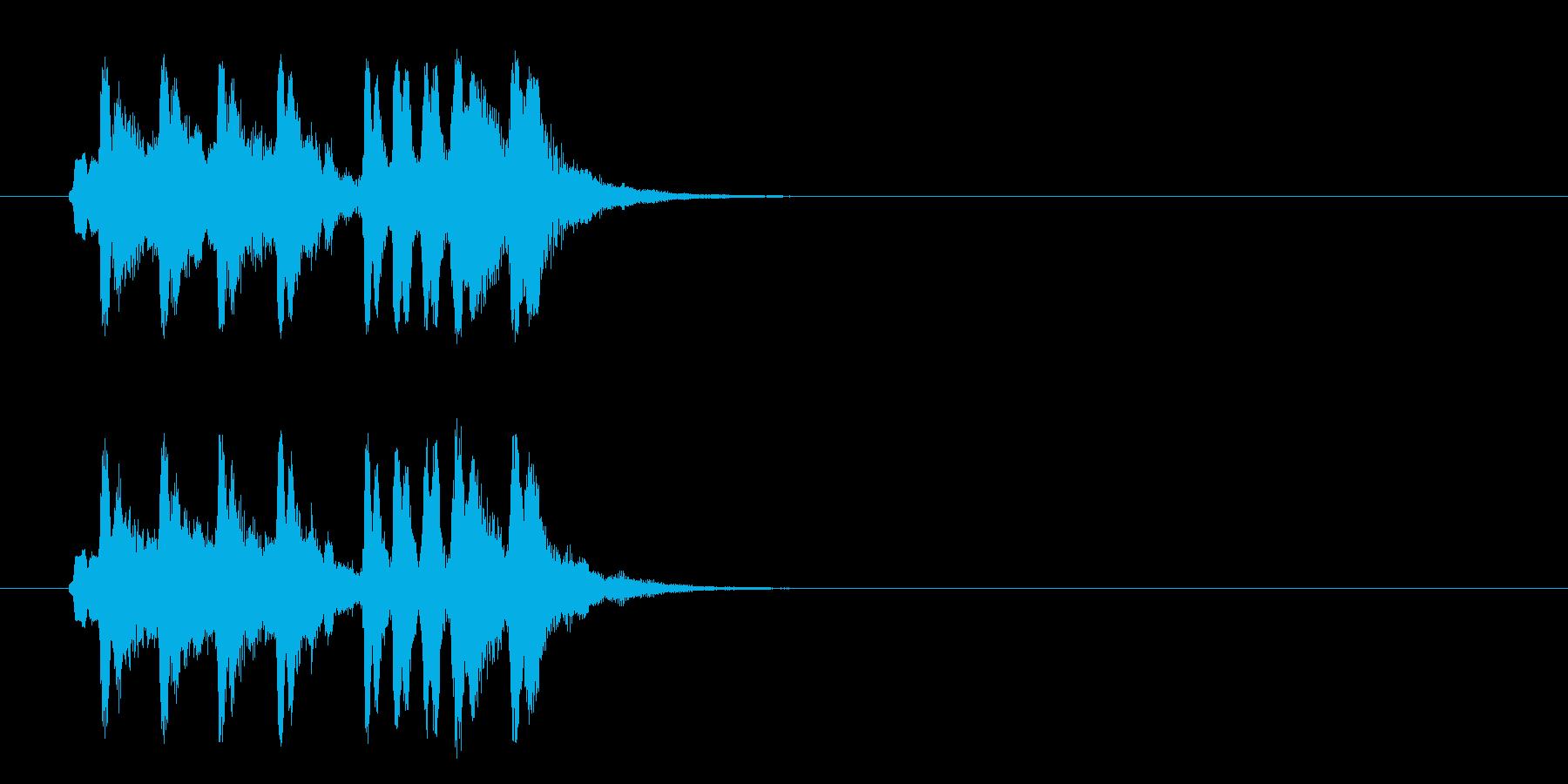 ジングル/かわいいセミクラ(コミカル)の再生済みの波形