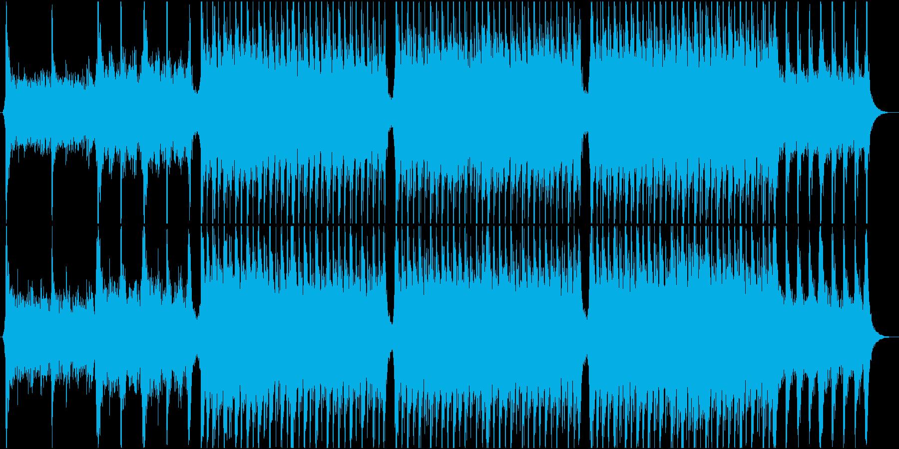 トレイラー風オーケストラ曲の再生済みの波形