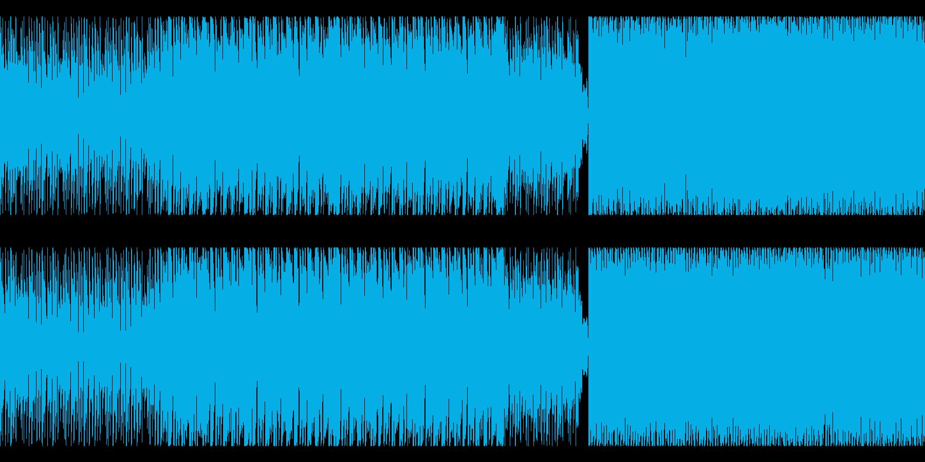 高速の電子空間戦闘曲【1分ループ曲】の再生済みの波形