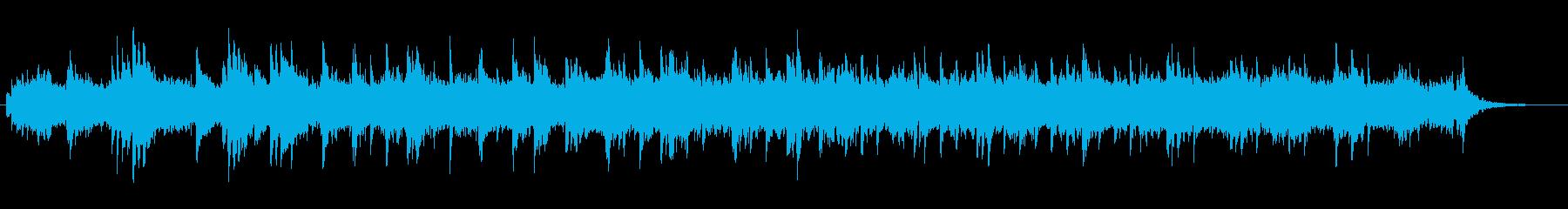 水の中をゆったりと漂うイメージの曲の再生済みの波形