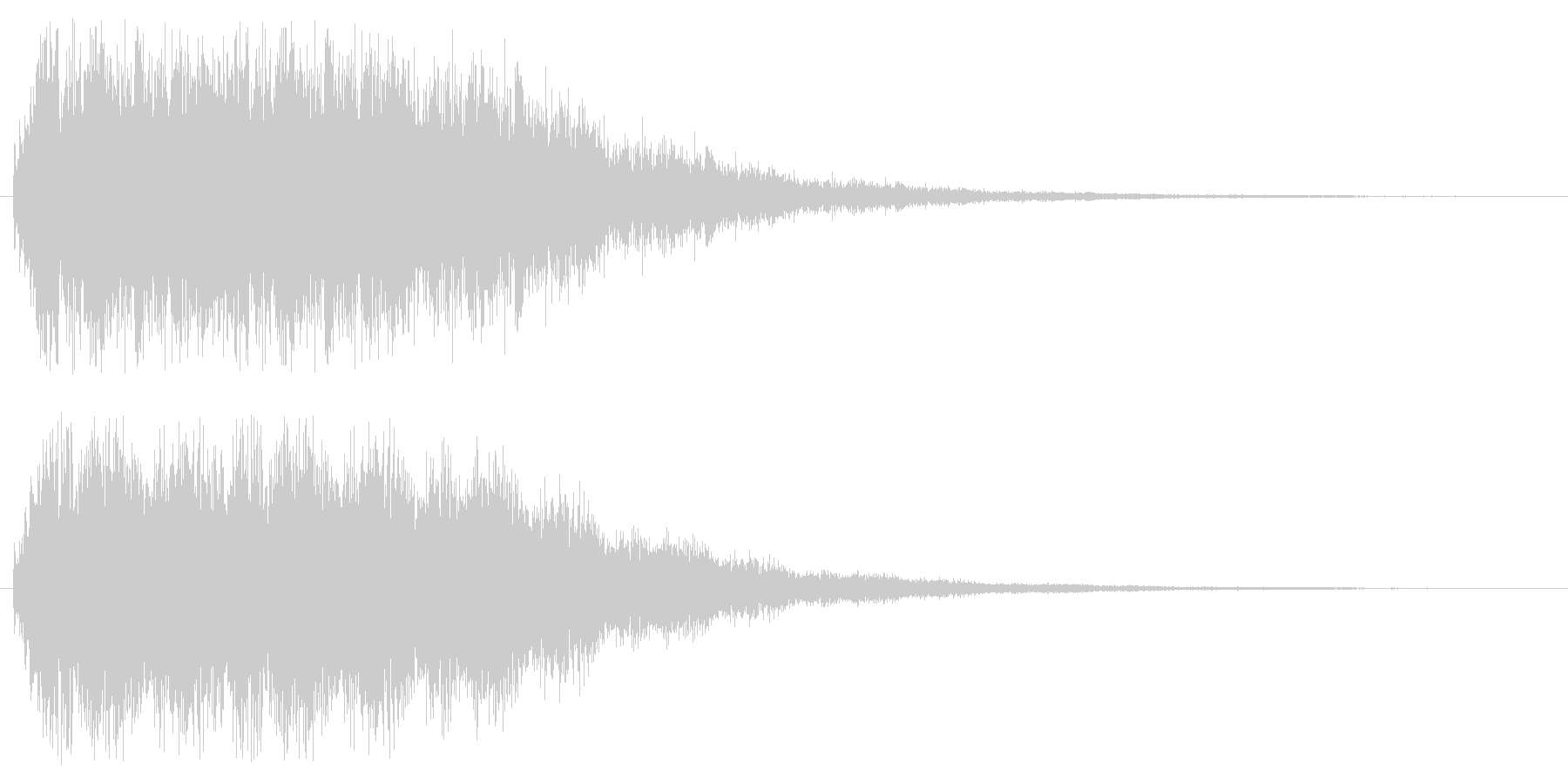 キュワキュワ(透明感のある金属効果音)の未再生の波形