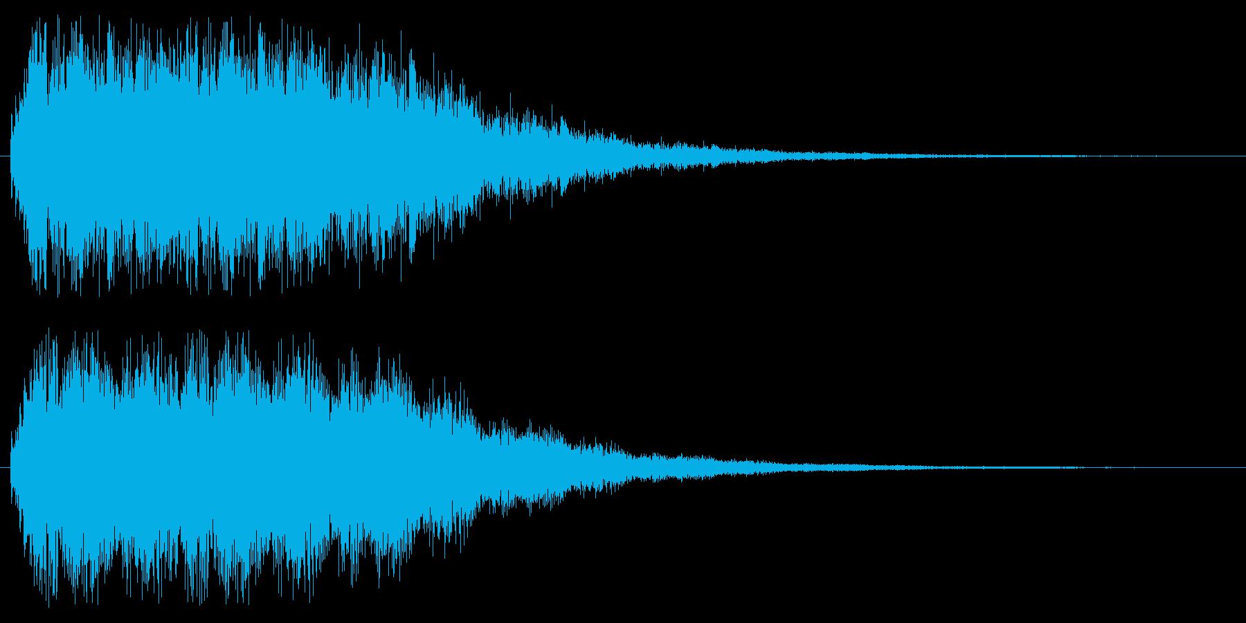 キュワキュワ(透明感のある金属効果音)の再生済みの波形