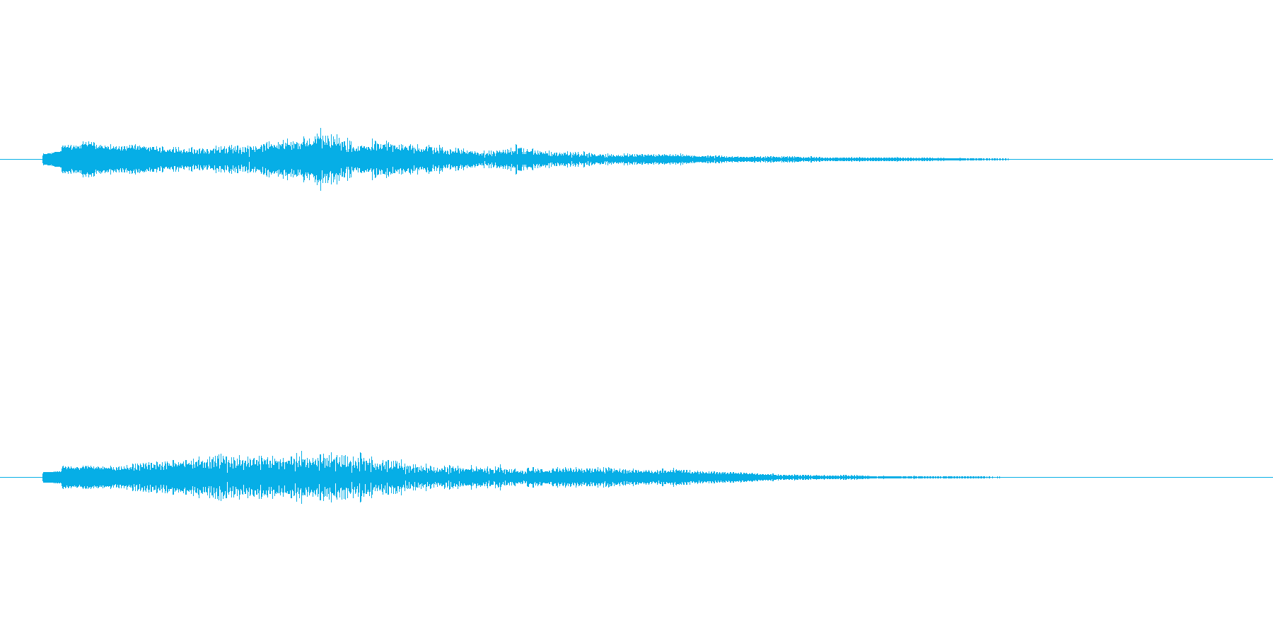 シンセコードによるサウンドロゴ2の再生済みの波形